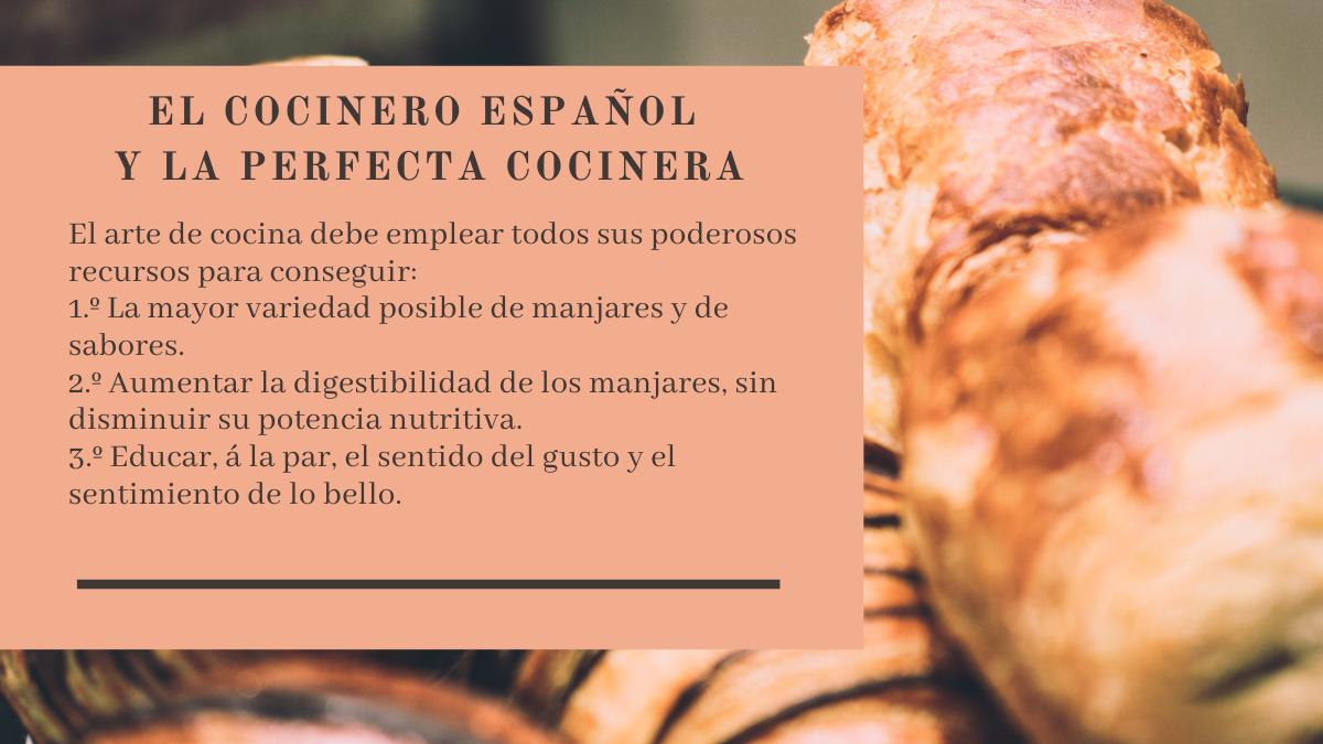 Extracto del libro El cocinero español y la perfecta cocinera.