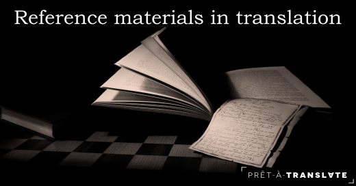 reference materials in translation