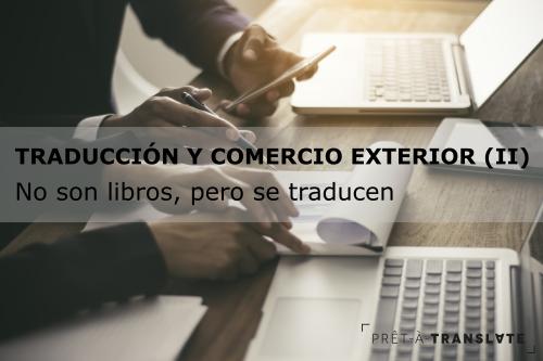 traducción y comercio exterior II - documentos que se traducen