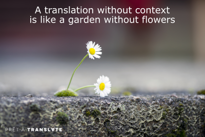 a translation without context is like a garden without flowers